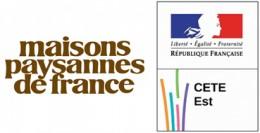 Logos de Maisons Paysannes de France et du CETE de l'Est