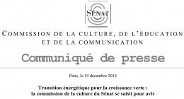 20141219 CommuniquéSénat