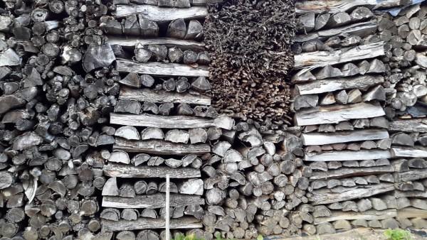 Tas de bois à Eichhoffen, mars 2016