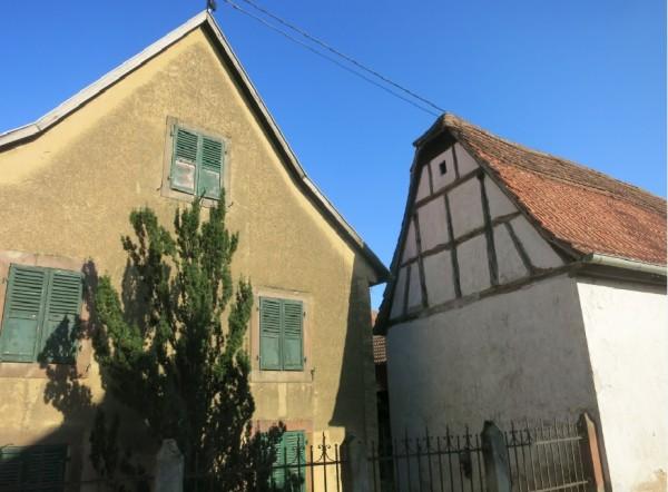 Hochfelden pignon maison et portail