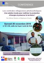 Energies nouvelles : conférence à Volx (04), 26 Novembre