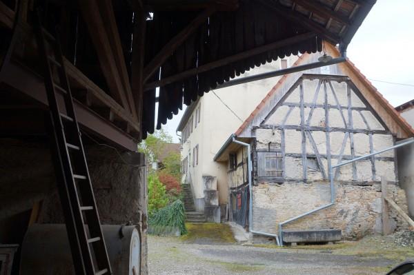L'arrière de maison Zaessinger vu depuis la grange sur cave voûtée