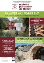 Exposition & conférences sur la restauration du bâti ancien - Paris, janvier/février 2017