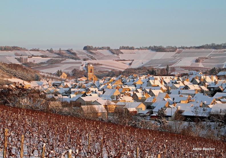 Irancy sous la neige (Yonne)