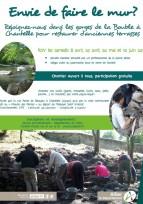 Un chantier participatif autour de la pierre sèche en Allier