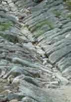 Escalier-caniveau  sur  lit de tuf en pierres cyclopéennes - Chantier Participatif -
