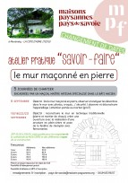 Atelier en Savoie (73) : Construction d'un mur traditionnel en pierre, il reste des places !