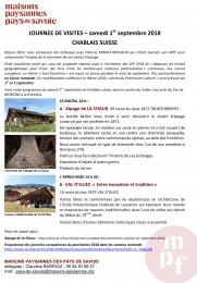 Microsoft Word - PROGRAMME JOURNEE DE VISITES - CHABLAIS SUISSE