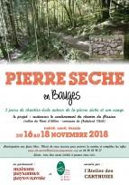 Chantier école sur la PIERRE SECHE, dans les Bauges (73), du 16 au 18 novembre 2018