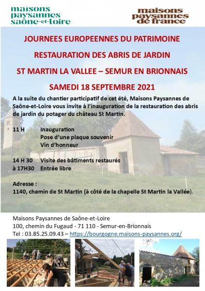 flyer JEP Inauguration chantier St Martin