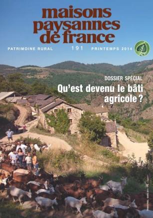 Revue Maisons Paysannes n°191, printemps 2014