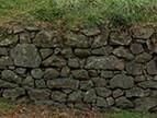 Réfection d'un muret de pierres sèches : chantier participatif
